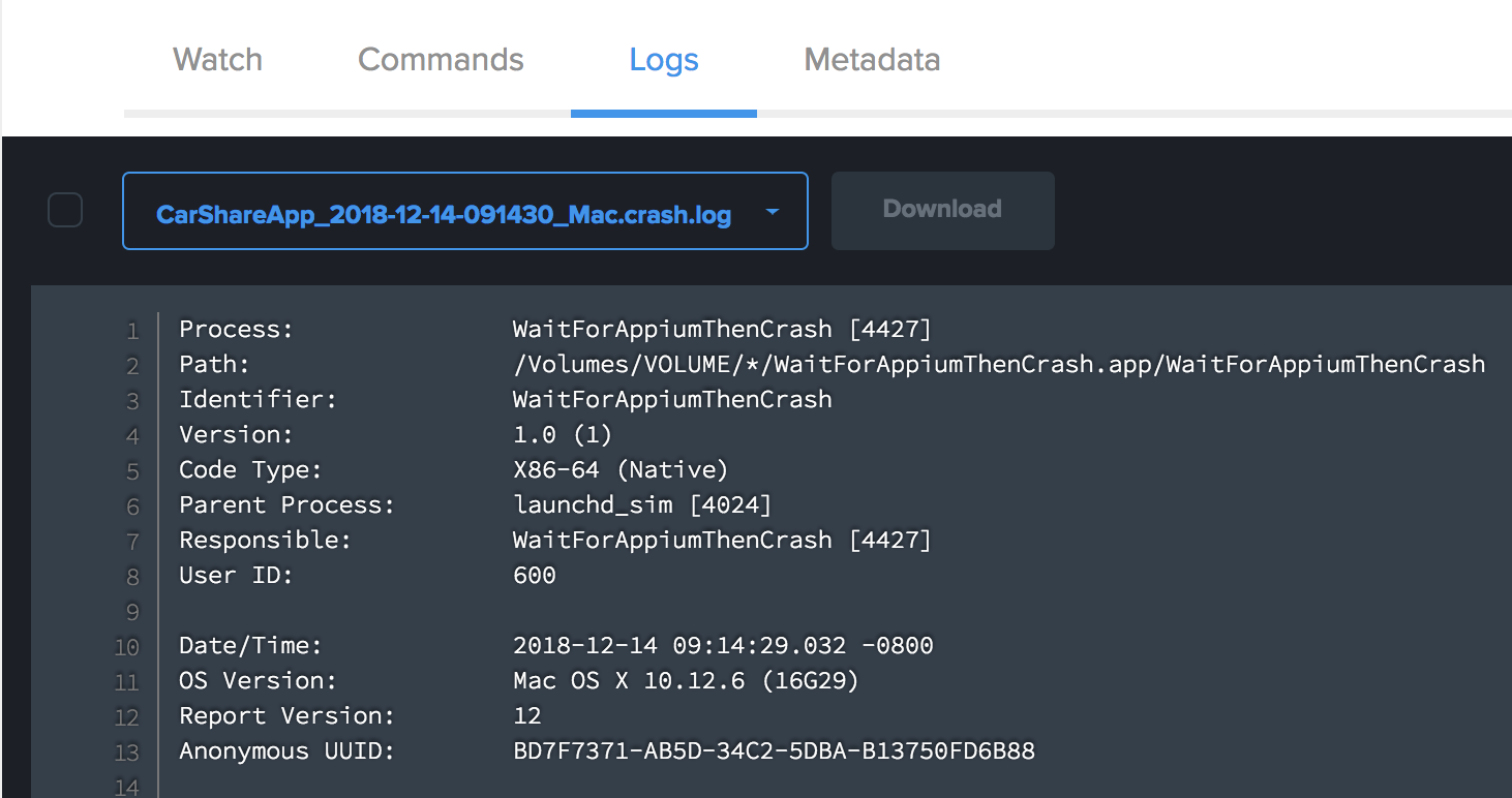 Announcing support for iOS crash logs on Sauce simulators - The